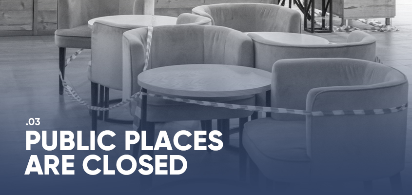 Public Places Are Closed