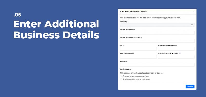 Enter Additional Business Details